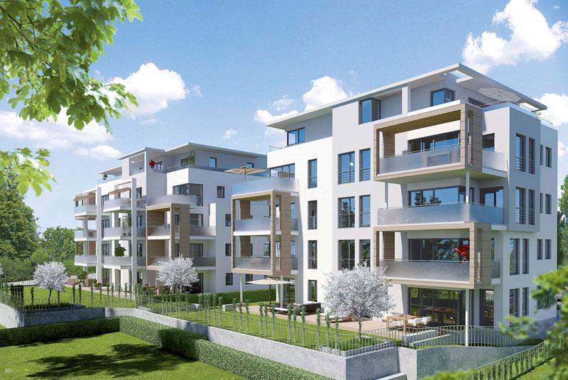 Mehrfamilienhaus duo herdern optamassivhaus for Mehrfamilienhaus modern bauen