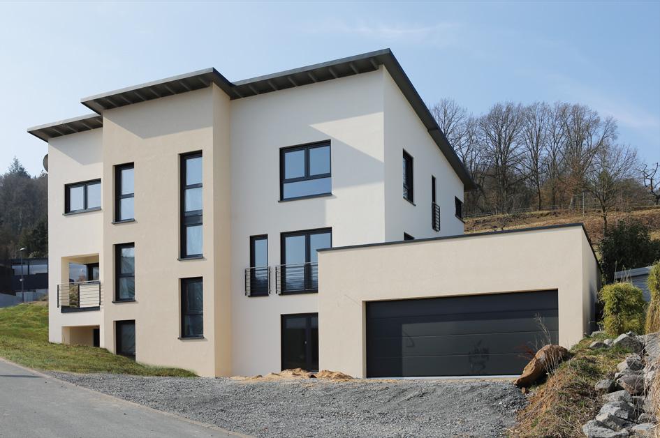 hanghaus weckbach hanghauser grundriss