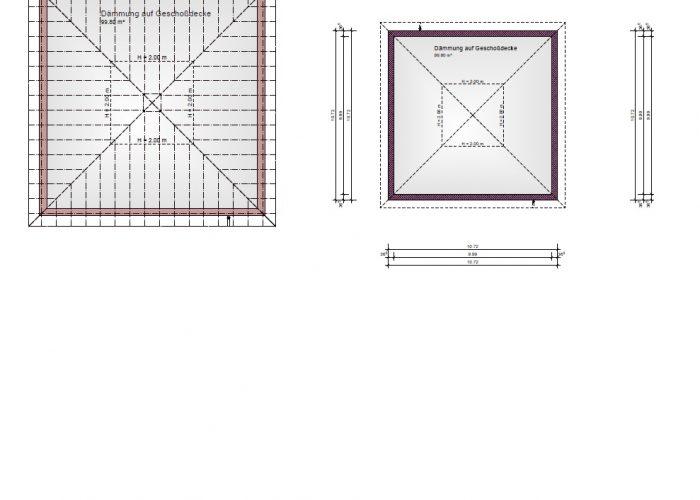 Dachgeschoßplan