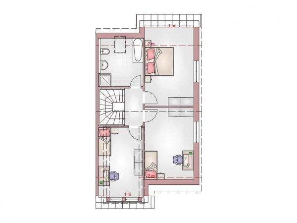 Grundriss Doppelhaus 120 DG