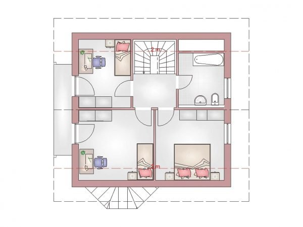 Grundriss Landhaus 100 DG