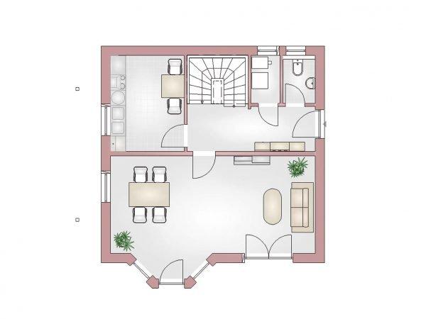 Grundriss Landhaus 100 EG