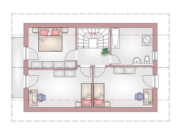 Grundriss Landhaus 120 DG