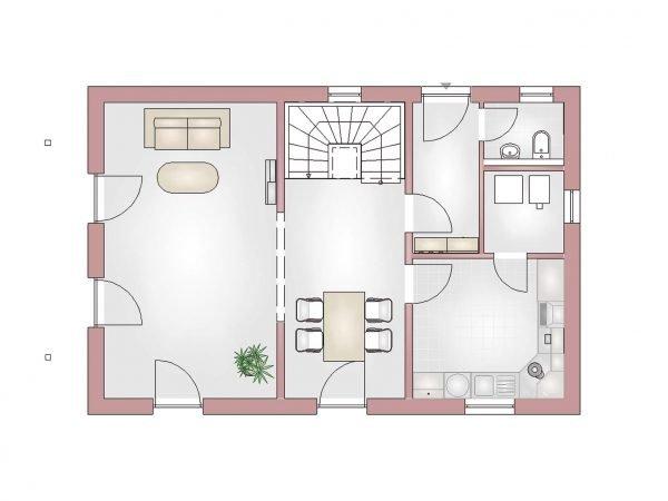 Grundriss Landhaus 120 EG