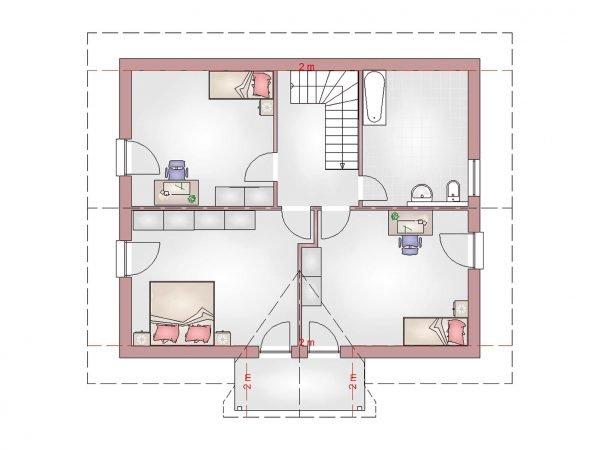 Grundriss Landhaus 160 DG