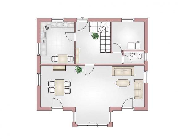 Grundriss Landhaus 160 EG