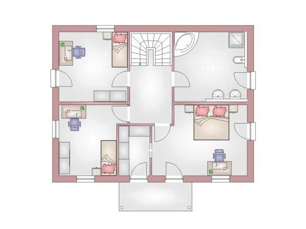 Grundriss Mediterian 160 Obergeschoss