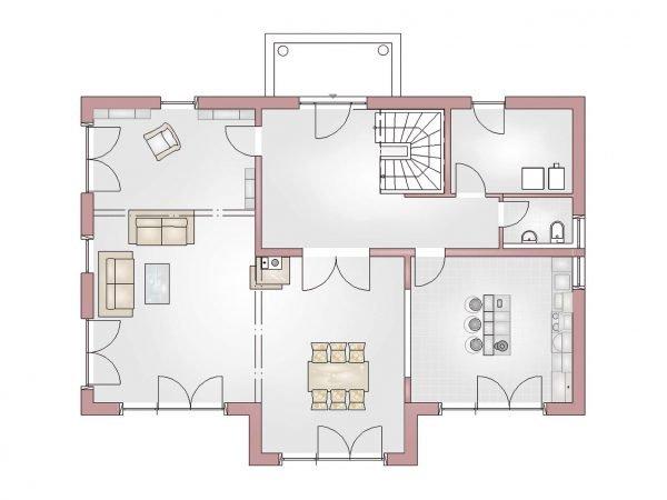Grundrissvorschau Villa 240 Erdgeschoss