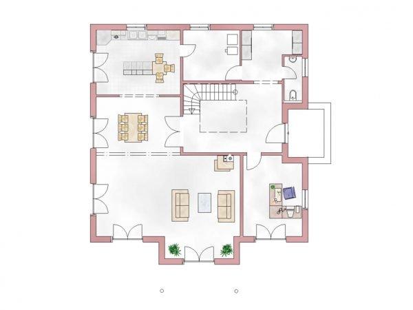Grundriss Villa 300 Erdgeschoss