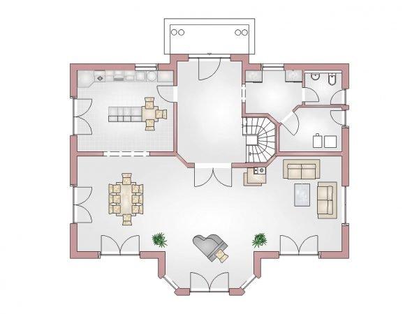 Grundriss Villa 380 Erdgeschoss