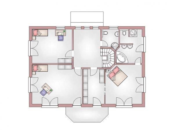 Grundriss Villa 380 Obergeschoss