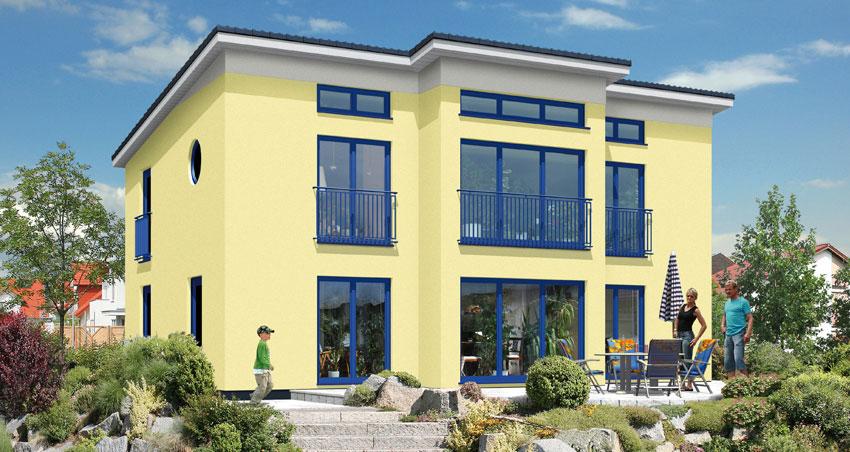Avantgarde Massivhaus A140 von OPTA MASSIVHAUS
