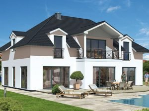 Villa Massivhaus D240 von OPTA MASSIVHAUS
